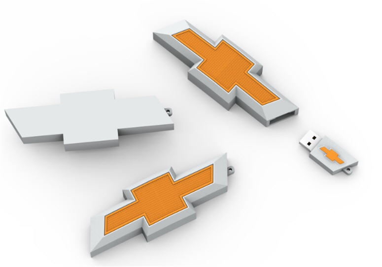 Chevy logo, customer flash drive