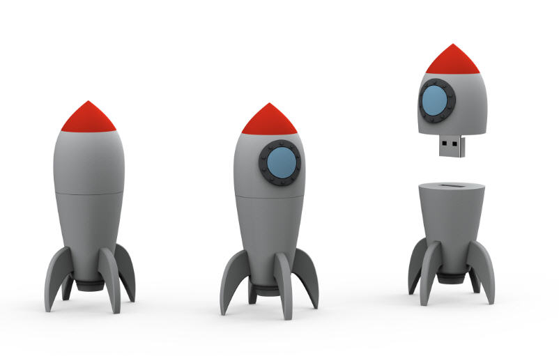 rocket, customer flash drive