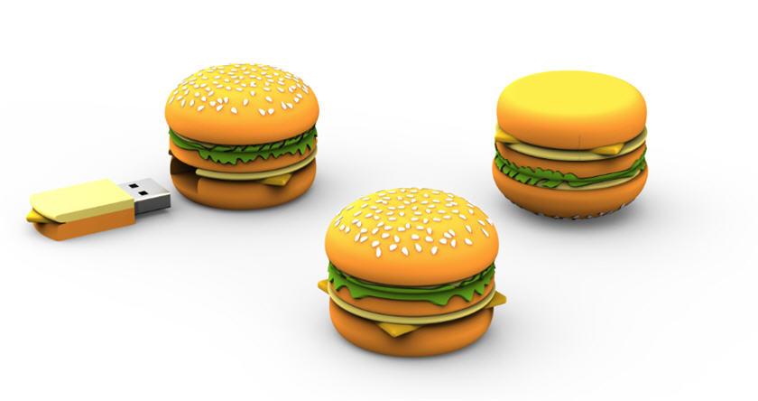 hamburger, customer flash drive