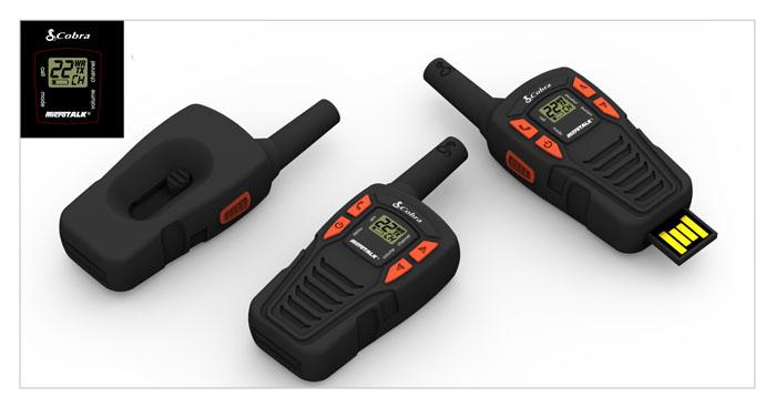 logo, customer usb flashdrive, walkie-talkie