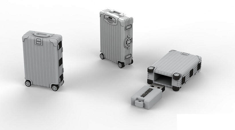 Briefcase flash drive