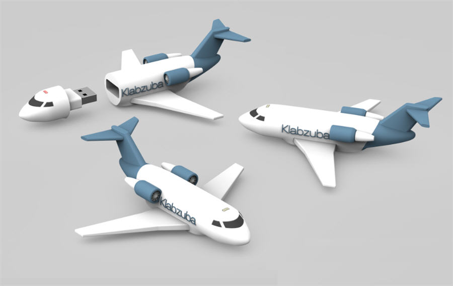 Airplane flash drive